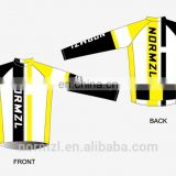 Custom men yellow designs cycling team apparel long sleeve jersey with pants
