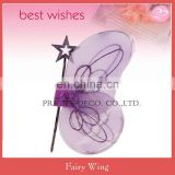 Purple color Decoration butterfly fairy wing ang star fairy wand kit for kids party costume