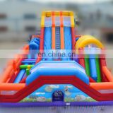 2017 Inflatable Playground Fun City,Inflatable Amusement Park Combo With Water Slide&Obstacle Course & Bouncy Jumping Castle
