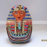 2013 Pharaoh trinket box bejeweled pewter alloy Golden plated