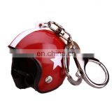 MCH-2275 New arrival wholesale novelty motorcyclist safely hat keychain car metal keychain