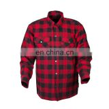 Customized FLANNEL MOTORCYCLE SHIRT/ Safety Flannel Shirt / RED BLACK MOTORCYCLE FLANNEL SHIRT