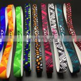 Wholesale custom printed letters running yoga bandanasport silicone antiskid sweat hair band