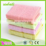 China supplier bamboo fiber jacquard satin baby towel