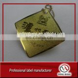 Wholesale High Grade Metal Card Type And Bottle Decoration Use Custom Stamped Custom Embossed Gold Foil Metal Wine Tag With Hole