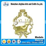 custom gold deer shaped medallion carnival