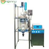 Customized glass reactor Ultrasonic reaction kettle double layer reactor