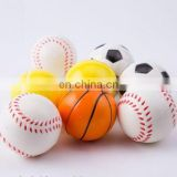 Customized Colorful Antidepressant Shape star/soccer/basketball PU Stress Ball Free sample