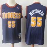 Denver Nuggets #55 Mutombo Throwback Blue Jersey