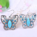 wholesale fashion vintage resin acrylic kallaite butterfly fingernail earring posts backs punjabi