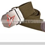 cotton webbing with nickle buckle Mens US Army belt