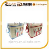 2016 fashion 600D food cooler bag double layer mummy baby picnic bag
