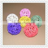 weaving white wicker rattan ball for decoration