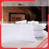 Satin goose down feather filled pillow designed by Chinese