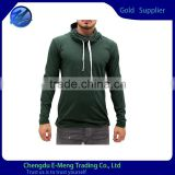 New Design Wholesale Blank Mens Long Sleeve Hooded Tshirt