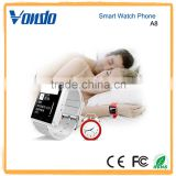Vondo A8 Upgrade Model Waterproof Bluetooth Wrist Smart Watch Phone Mate Handsfree Call for Smartphone Outdoor Sports