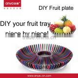 D619 DIY Colorful Dry Fruit Decoration Tray/Plastic Fruit Tray/Beauty Fruit Tray