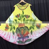 100% Rayon Crepe Batik Umbrella Dress