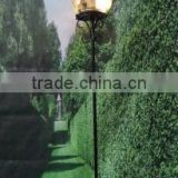 High quality glass ball gold cast iron garden light pole