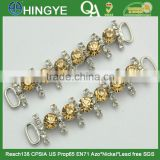 Decorative Sew-on Rhinestone with Chain Brooches For Garment and Shoes - BG1501
