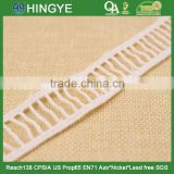 Hot selling off white 100% cotton ladder lace for clothing decoration H1551-3                                                                         Quality Choice