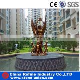 Garden large unique bronze fountain with lady statue