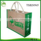 2015 hot sell wholesale tote bag, burlap bag shopping bag ecofriendly large bag,jute bag screen printing machine