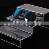 Acrylic sunglasses display stand 2016 custom step eyewear display holder eyesglasses showing rack
