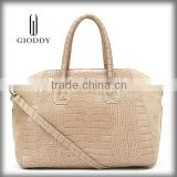 Fashionable lady genuine italian leather handbags