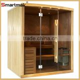 Manufacturer wholesale luxury sauna cabin,hemlock sauna house, sweathouse, finland traditional steam sauna room
