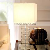 K9 Crystal Beige Fabric Bedside Table Lamp For Home