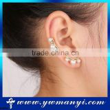 Hot selling Lovely cute pearl stud earring cuff with factory price E0599