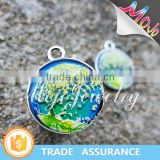 Printed Fashion Tree of Life Pattern Fashion Charm with Mood Color Changing Effect