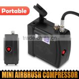 Black HS08 Portable Mini Airbrush Compressor Kit with UK Adapter Body Paint Professional Airbrush Nail Art Paint Cake AS-37