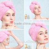 High quality super-thick microfiber hair drying cap lady gym swimming shower pink yellow hair fast dry drying cap turban towel