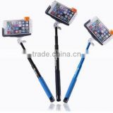 Extendable Self Portrait Selfie Stick Handheld Monopod + Wireless Bluetooth Remote Shutter Control for IOS Android Phones Z07