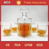 Various high quality glass whiskey decanter with lid                                                                         Quality Choice