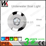 316 Stainless Steel Excellent RGB IP68 60w boat yacht accessories marine lights led waterproof