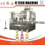 3 in 1 automatic glass bottled juice filling machinery