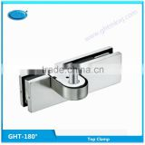 supply factory price 180 degrees Overpanel patch fitting, Eccentric stainless steel top clamp