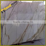 Up1200x2400mm standard big size Italy calacatta gold marble slab