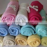 Cellular Baby Blanket For Pram Soft Pure Cotton 70x90CM Cheap Wholesale Muslins Swaddle Blanket