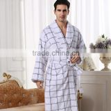 White Color terry cotton toweling night gown,men sleepwear , men bathrobe hot sale