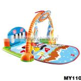 2015 Frozen baby large baby play mats with piano and plush toys eco-friendly baby play gym mat