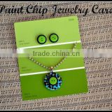 Green color printing Paper jewelry display card, jewelry card, jewelry display cards custom