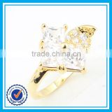 Cheap price handmade crystal 18k gold wedding ring moroccan