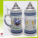 High Quality and Hand Made Octoberfest Beer Stein With Lid