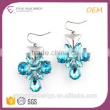 E75317K01 Ethnic Earring Display Stand Setting With Blue Crystal Rhinestone Stone Earrings From Color Prep Group (aug market)