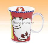 animal nature decal hand-painting A Grade fine bone china promotional ceramic mug gift box