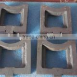 Cushion block for test bench made of steel
